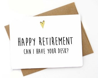Funny Retirement  Card for co-worker