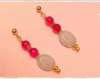 Gold & Semiprecious Stones Earrings