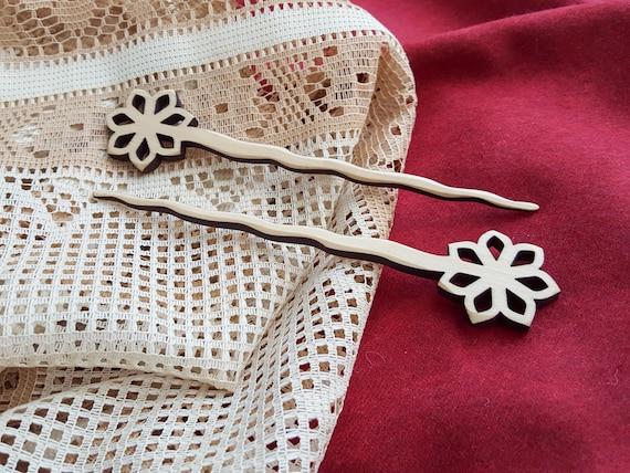 ... , Exotic wood chopsticks, Natural hair accessories, Hair fork #22