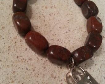 brecciated jasper bracelet