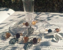 Leaf Wine Charms, Free Shipping