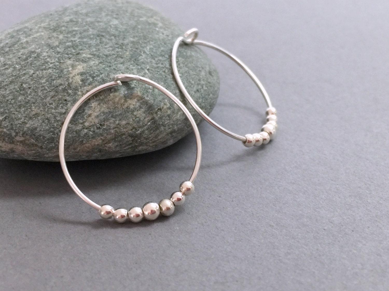 sterling silver small hoops silver hoop earrings sterling. Black Bedroom Furniture Sets. Home Design Ideas