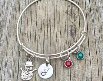 Bracelet - Snowman - Christmas jewelry - Winter -  Holiday bracelet - Holiday jewelry - Christmas gift  - Xmas - Gift for her