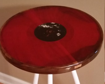 Vinyl record side tables