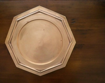 Vintage Octagonal Brass Plate