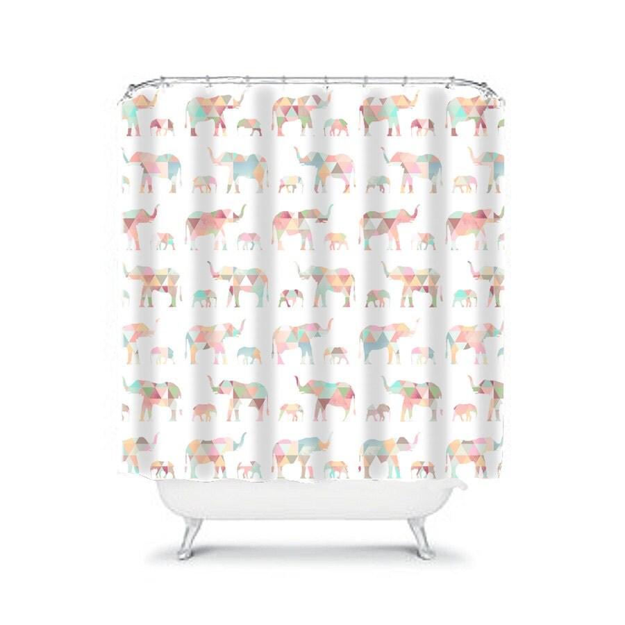 Elephant shower curtain elephant bathroom decor elephant decor for Elephant bathroom accessories