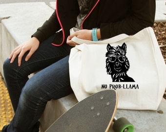 Llama, gifts for llama lovers, llama gift, funny llama gift, funny gift, funny gift idea, Llama tote bag, personalized gift, tote bag