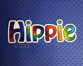 Hippie Bumper Sticker