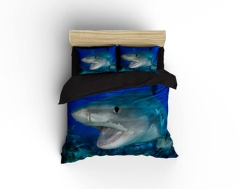 Great White Shark Duvet Covers Home Decor By Bigwaveclothingco