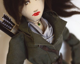 Items similar to Tomb Raider Lara Croft Rag Doll Collectible Toy ...