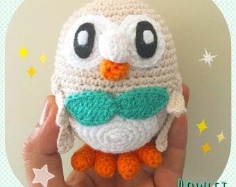 Amigurumi Rowlet Pokémon