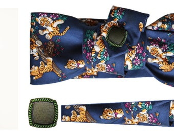 Headband made with silk tie