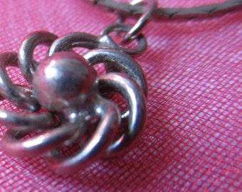 Silver Tone Round Swirl Pendant Necklace