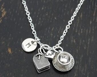 Tea Lover Necklace, Tea Charm, Tea Pendant, Tea Jewelry, Tea Cup Charm, Tea Cup Necklace, Tea Party Necklace, Tea Gifts, Tea Time, Tea Bag