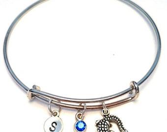 Alligator Bangle Bracelet, Adjustable Expandable Bangle Bracelet, Alligator Charm, Alligator Pendant, Alligator Jewelry, Crocodile Bangle