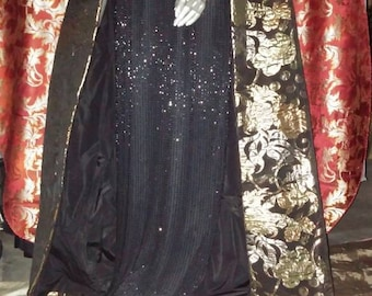 Laurence Kazar silk sequined gown size 14