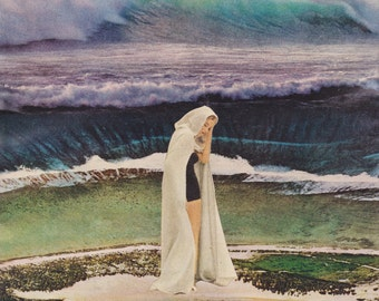 Collage Art, Surreal Art, Archival Print, Home Decor - Mare