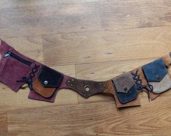 Patchwork Leather Utility Belt