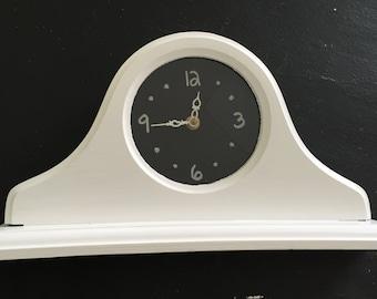 Chalk mantel clock
