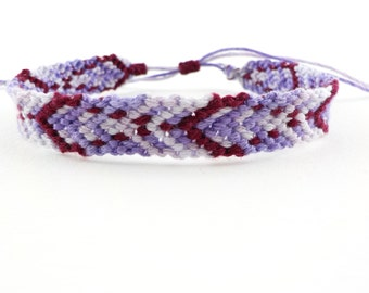 Purple and burgundy friendship bracelet