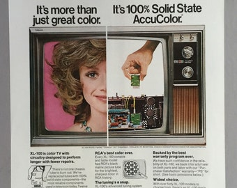 1972 RCA XL-100 Color Television Ad - AccuColor TV