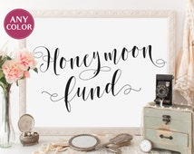 Unique honeymoon fund sign related items | Etsy