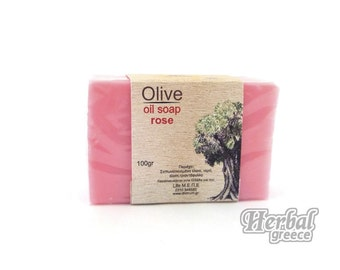 Handmade Traditional Soap, Olive Oil with Rose 100g (3.5oz.)