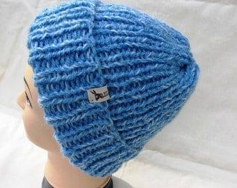 EL BURRO Hat beanie blue wool hat