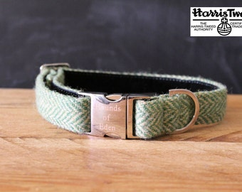 Leo - Designer Harris Tweed Dog Collar Handmade