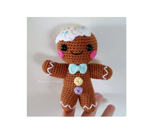 Gingerbread Man PDF PATTERN Amigurumi By SuperCuteDesignShop