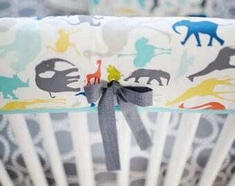 Jungle Animal Crib Rail Cover for Boys | Jungle Animal Baby Bedding Collection