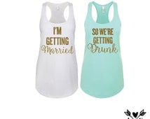 Bridesmaid shirts-bachelorette party shirts-bride tshirt-Drunk in love shirts /tank tops (glitter print)...Or  feyonce