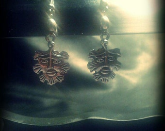 Earrings Greenman