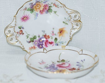 Royal Crown Derby Posies Pair of Trinket Dishes