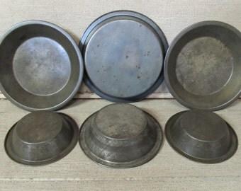 Vintage Mini Pans, Mini Pie Pans, Tart Pans