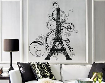 Wall Vinyl Decal Paris Eiffel Tower France Amazing Vacation Bedroom Decor 1283dz