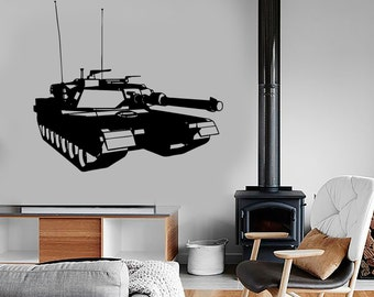 Wall Vinyl Tanks Army War Military Forces Guaranteed Quality Decal Mural Art 1646dz