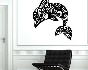 Wall Vinyl Ocean Sea Dolphin Ornament Mural Vinyl Decal Sticker 1738dz