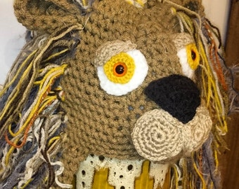 Crochet Lion Hat With Mane