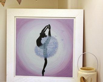 Dandelion Ballerina Art Print