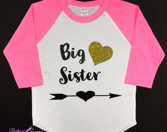 Big Sister shirt, Big sister, Baby Announcement, Sister shirt