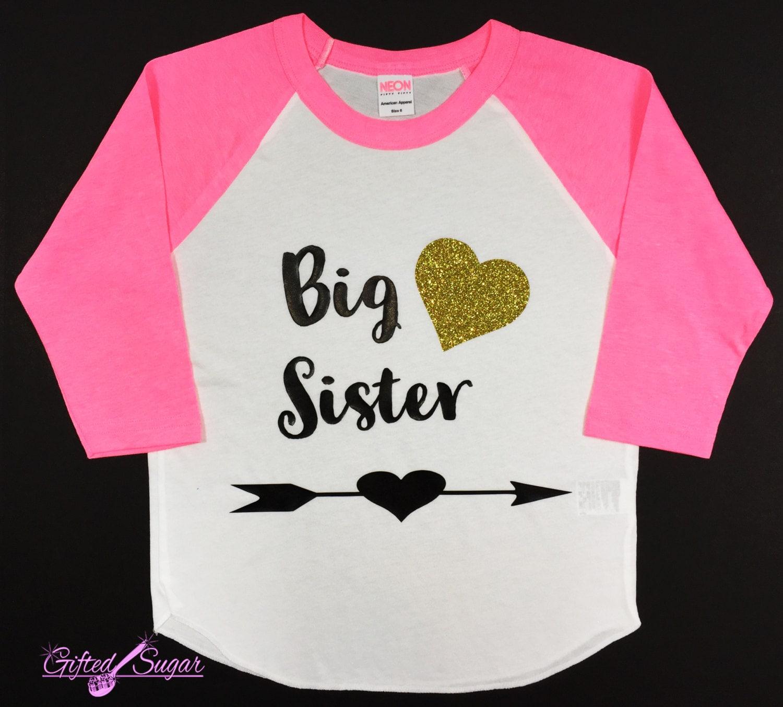 Big sister shirt big sister baby announcement sister shirt for Big sister birth announcement shirts