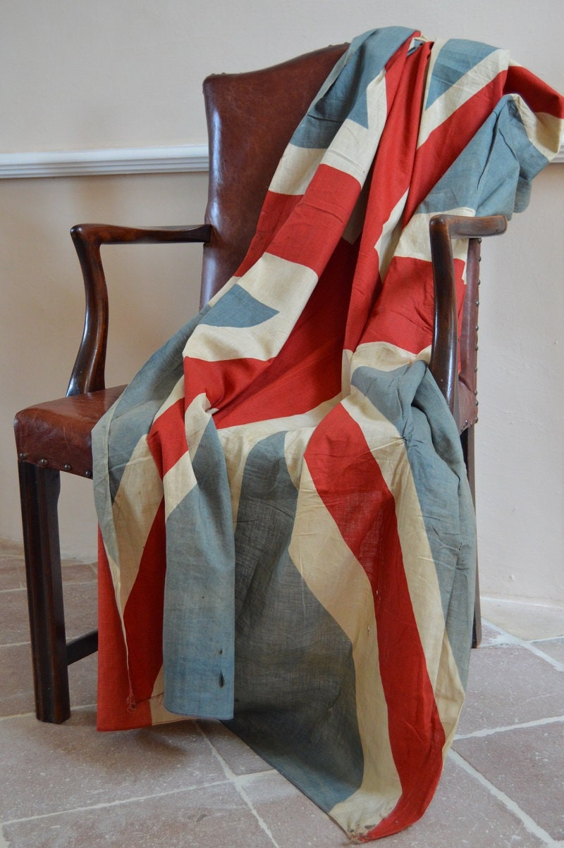 antique large british flag vintage union jack home decor