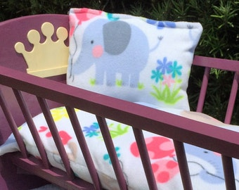 Fleece bedding set, so cute and so soft, muli colors, happy elephants, balloons and flowers 10.00