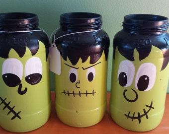 Frankenstein Jar-Halloween Decor-Franeknstein Decorations