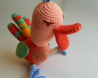 Ostrich amigurumi - knitted toys