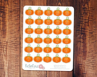 CLEARANCE! Halloween Countdown/Pumpkin Date Covers Planner Stickers, for use in Erin Condren Planners, Happy Planner Stickers