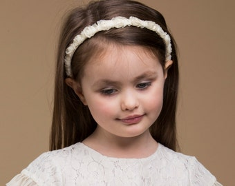 rosebud girls headband. ladies rosebud headband. flower girl headband. pretty headband. hair accessory.