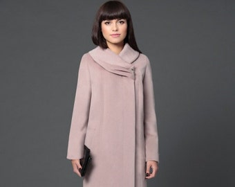 Plus size winter coat/ Plus size wool coat/ Wool