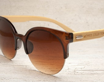 Oliver - Brown Eco-friendly Bamboo Sunglasses